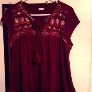 Hollister Boho Top Size Large